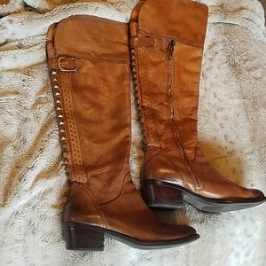 Vince camuto riding boot brown bollo